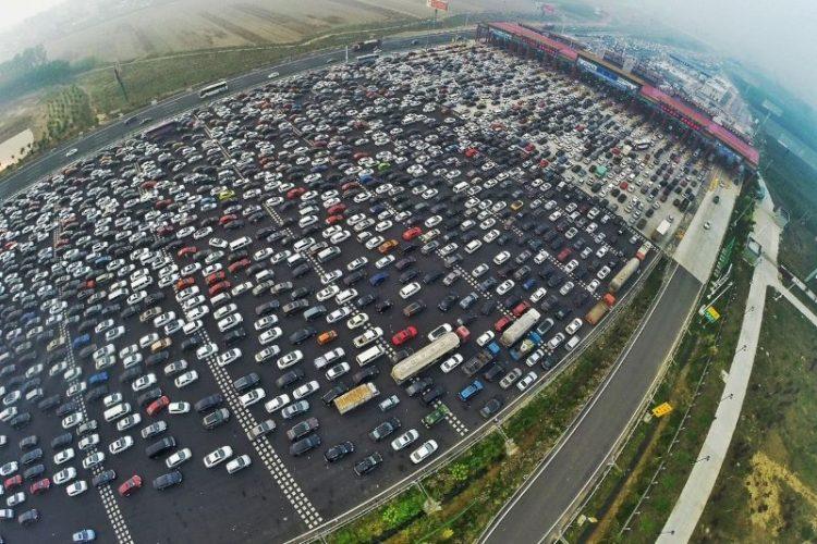 Пекин-Гонконг-Макао Китай пробки на дорогах