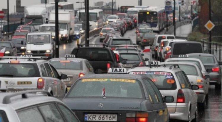 Краков Польша пробки на дорогах
