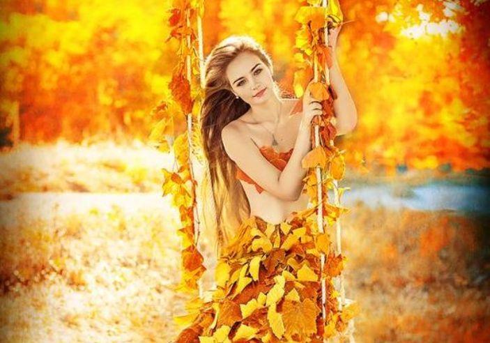 30 осенних фотографий красивых девушек